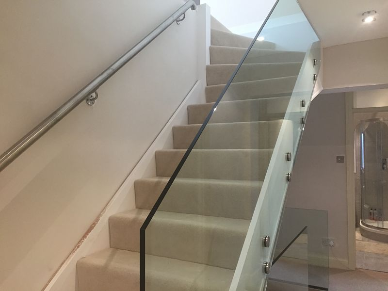 Glass Stair Balustrade Glass360 Bespoke Frameless Glass