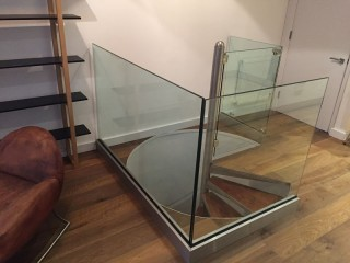 Bespoke Glass Stair Balustrade London