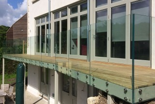 Frameless Glass Balcony Berkshire
