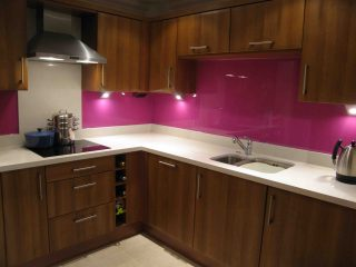 Lipstick Pink by day coloured splashbacks