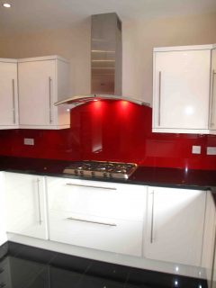 Lipstick Red Glass Splashback