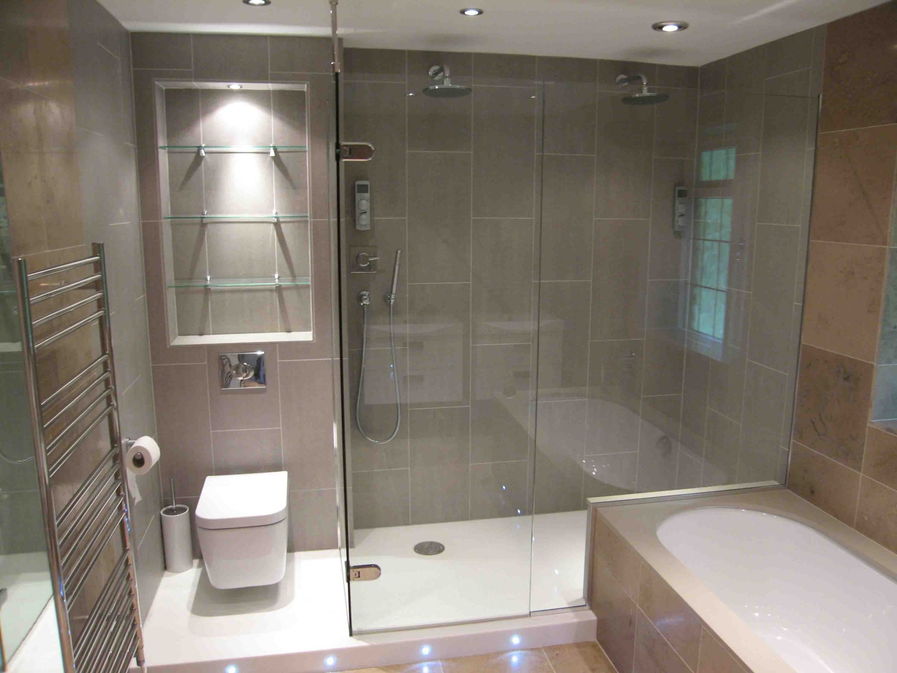 Over bath shower screens made to measure bespoke bath for Shower bathroom designs pictures