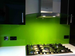 Apple Green Glass Splashback for Kitchens