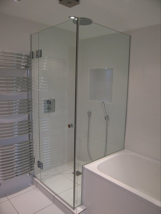 over bath shower screens made to measure bespoke bath