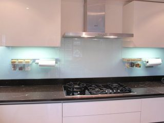 light blue glass splashback - custom glass splashbacks Glass360