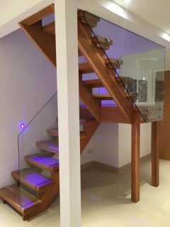 Bespoke frameless glass balustrade stairs Windsor