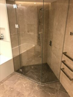 Glass 360 Custom Corner Shower Hinged Door Enclosure 6