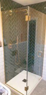 Glass 360 Custom Shower Hinged Door Enclosure 1