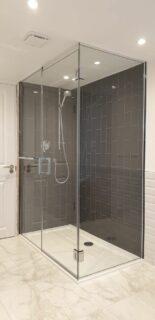 Glass 360 Custom Shower Hinged Door Enclosure