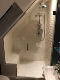 Bespoke Sloping Ceiling Shower Glass Attic