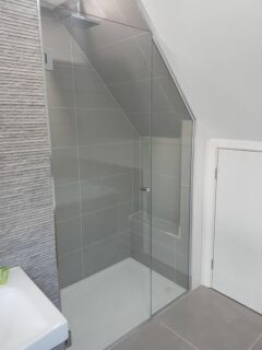 Sloping Ceiling Shower Glass