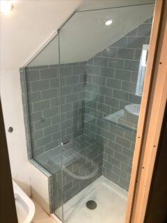 sloped roof shower enclosure glass