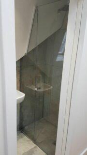 multi angle glass shower screen