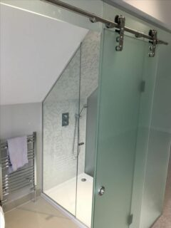 frosted glass loft shower enclosure 1