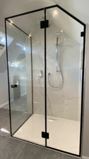 custom made attic shower enclosure